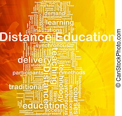 Distance education background concept - Background concept...