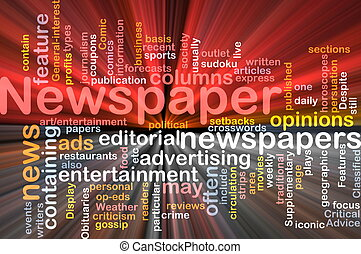 Newspaper news background concept glowing - Background...