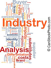 Industry analysis background concept - Background concept...