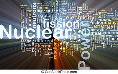 Nuclear power background concept glowing - Background...