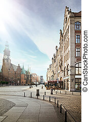 blue sky over pretty city - photo of a blue sky over pretty...