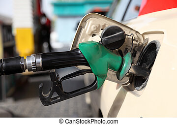 Refueling a car at gas station