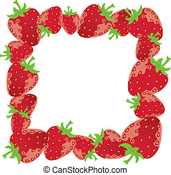 vector strawberry frame