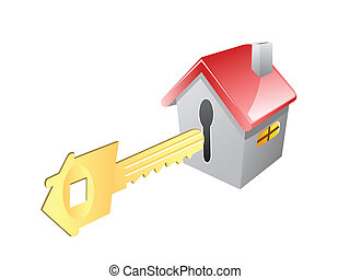 key for house - the concept of key for house