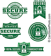 Secure Web Store Stamps - A selection of distressed style...