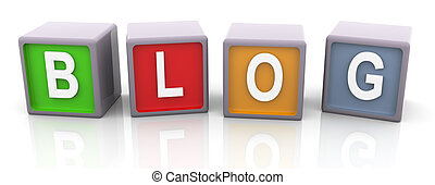 3d colorful text 'blog'
