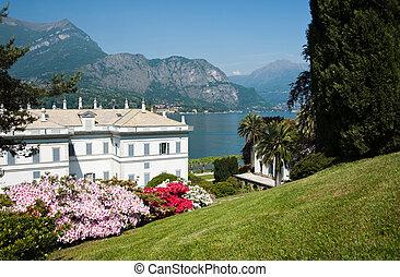 Lake Como, gardens. - Lake Como, the colour of Italian...