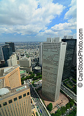 Shinjuku Skyline - Skyscrapers in Shinjuku, Tokyo, Japan.