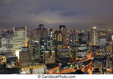 Osaka Skyline - Cityscape of Osaka, Japan at night