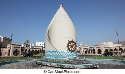 Statue at a roundabout in Muscat - Statue at a roundabout in...