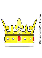 Crown with jewels - beautifull crown with jewels on white...