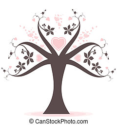 Valentine tree - Beautiful valentine tree with hearts...