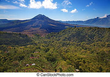 Batur volcano - Batur Active volcano on the Bali island