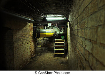 Dark basement of an old building