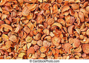 dried apples, background