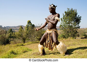 african zulu dancer