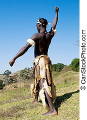 traditional african zulu dancer