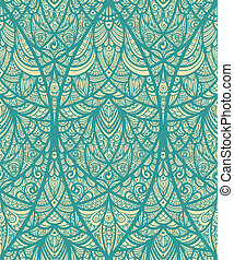 vector seamless eastern pattern in blue