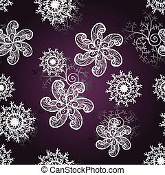 vector seamless abstract winter bacxkground with snowflakes