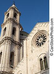 Bitetto Bari, Puglia, Italy - Old cathedral in Romanesque...