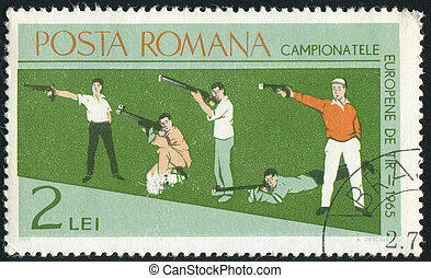 poststamp hunting - ROMANIA - CIRCA 1965: stamp printed by...