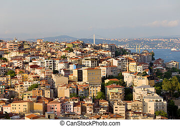 Beyoglu District in Istanbul - View on the Beyoglu district...