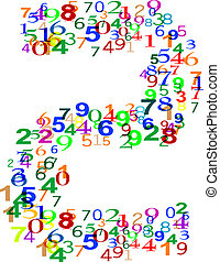 Number Two made from colorful numbers
