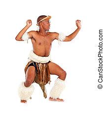 africano, tribal, homem