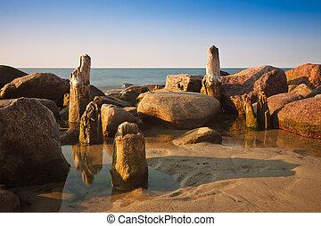 The Baltic Sea coast.