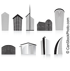 black office business building modern architecture -...