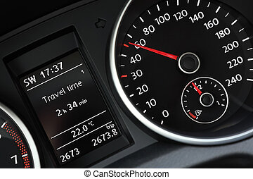 Modern cars dashboard close-up - Modern luxury cars...