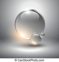 Abstract background - Abstract background with glass balls...