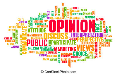 Opinion and Personal Views on a Public Issue