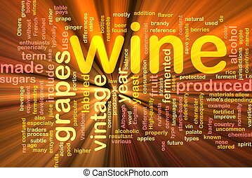 Wine vintage background concept glowing