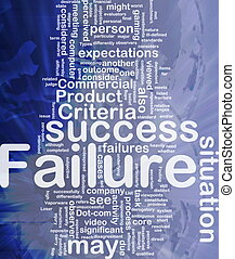 Failure background concept - Background concept wordcloud...