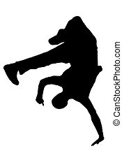 Streetdancer Silhouette - streetdancer silhouette isolated...