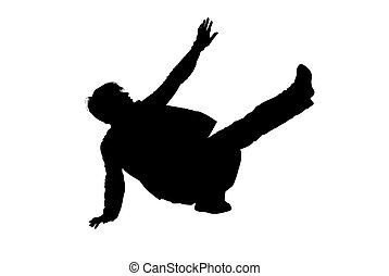 Breakdance Vector - breakdance silhouette vector