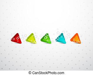 vector, triángulo, Plano de fondo