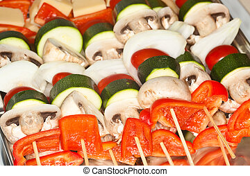 Vegetable Kabobs - Veggie Kabobs with Herb and Garlic...