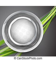 Glass sphere vector abstract background - Vector...