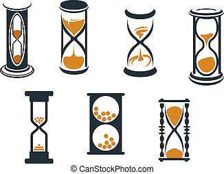 símbolos, reloj de arena