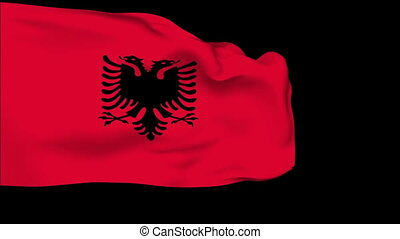 Flag of Albania - Flag of the Albania waving in the wind...