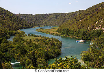 River Krka in the National Park in Croatia