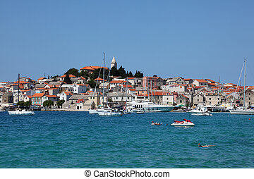 View of the Croatian town Primosten. Photo taken at 7th of July 2011