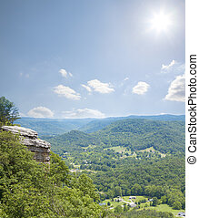 Kentucky - High point view of countryside of Central...