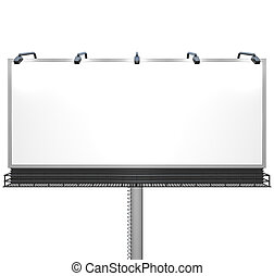 Blank White Billboard Ready for Your Message - Here's a...