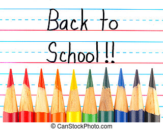 Back to School Written on a Lined Dry Erase Board with...