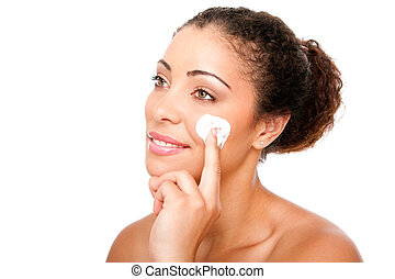 Facial cream beauty treatment