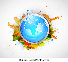 Vector Earth globe conceptual background