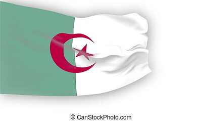 Flag of Algeria - Flag of the Algeriawaving in the wind...